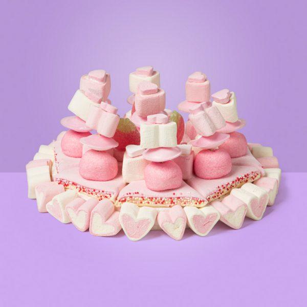 Kleine snoeptaart van Pinky met heel veel zoete spekjes.